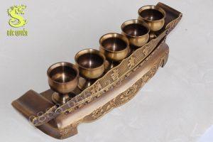 Khay chén thờ bằng đồng, hàng 2 công nghệ