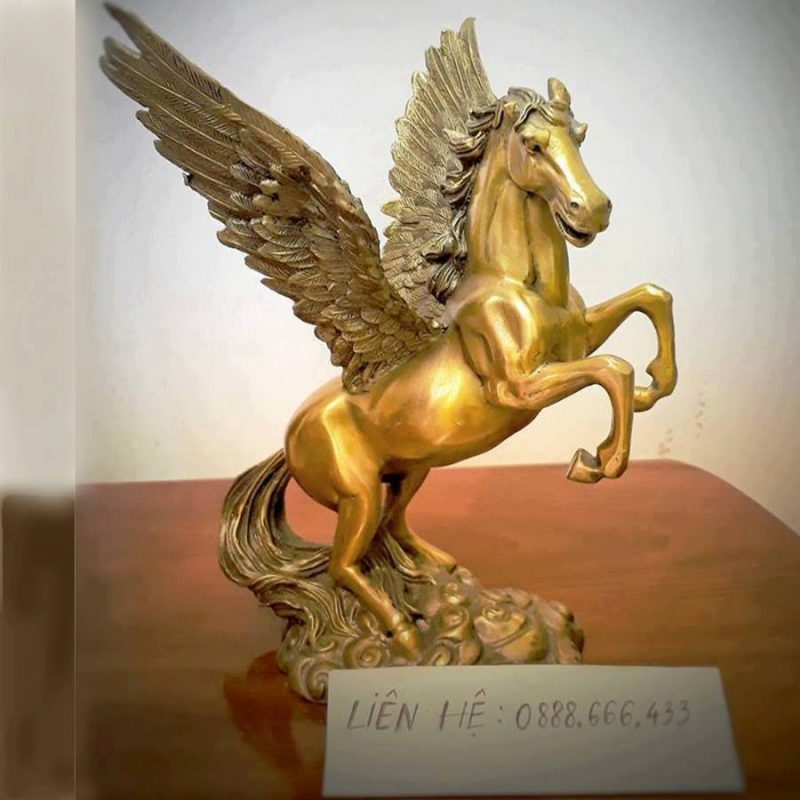Tượng Thiên Mã Lý bằng đồng vàng