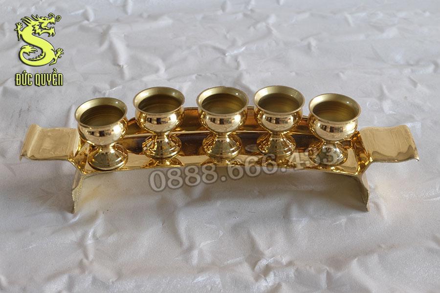 Khay chén thờ gồm 1 khay và 5 chén