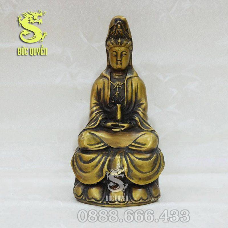 Tượng Phật Bà Quan Âm Bồ Tát bằng đồng