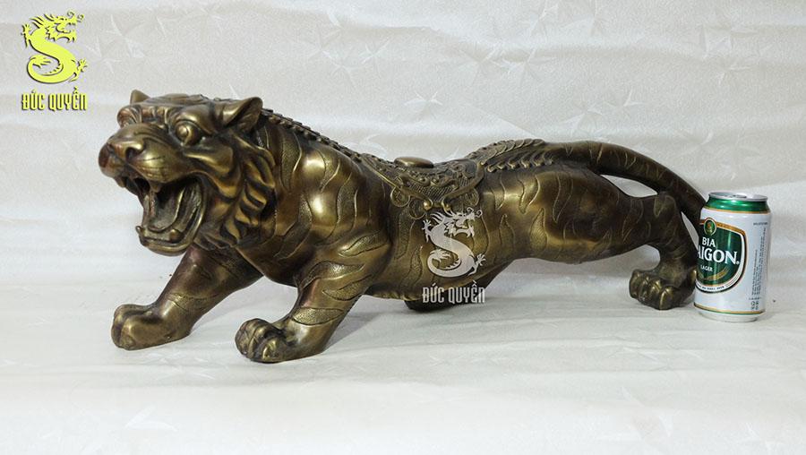 Tượng hổ phong thủy bằng đồng cỡ lớn