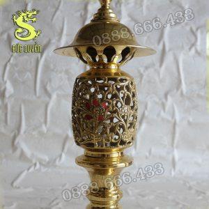Đèn thờ bằng đồng hình quả dứa