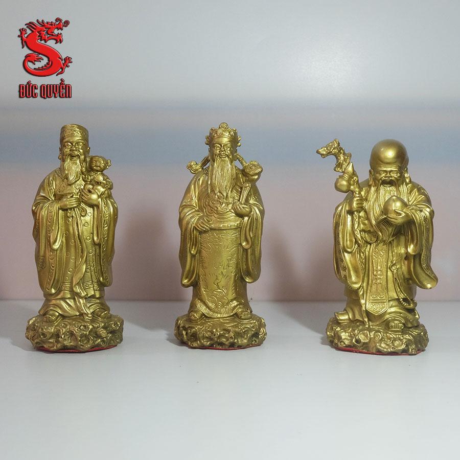 Bộ tam đa phúc lộc thọ bằng đồng vàng