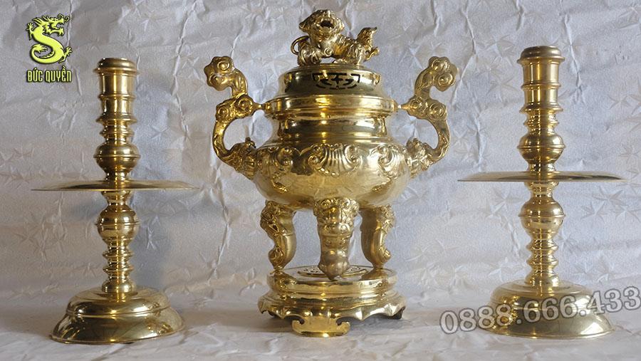 Bộ Tam Sự Đồng Vàng - Đỉnh Đồng Hoa Sòi