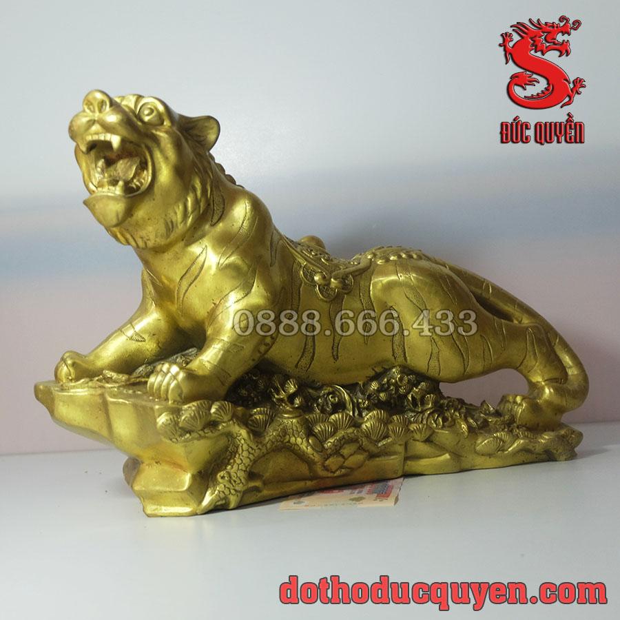 Tượng hổ phong thủy bằng đồng vàng