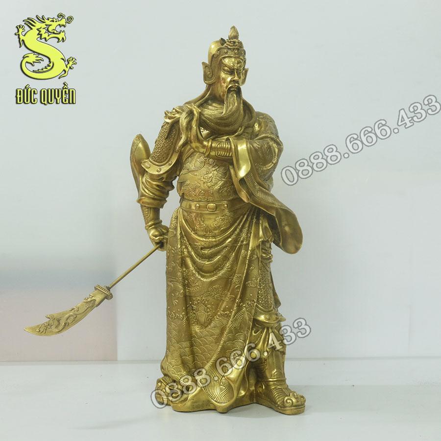 Tượng Quan Công bằng đồng vàng