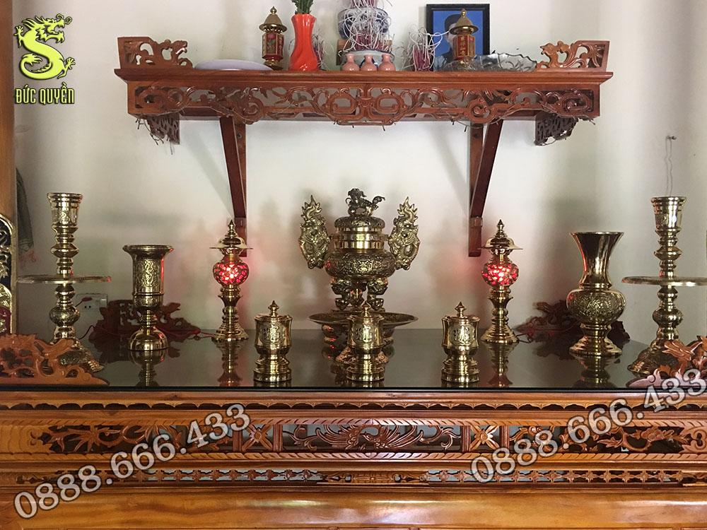 Bộ đồ thờ được đúc theo công nghệ đài loan 11 món