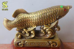 Tượng cá rồng bằng đồng