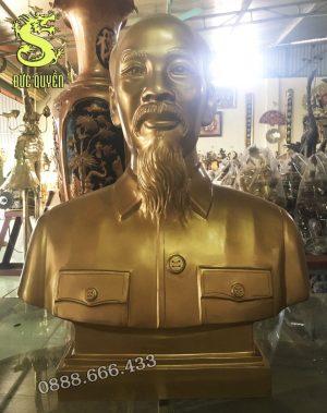 Tượng Chân Dung Bác Hồ Bằng Đồng Đồng
