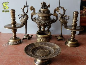Bộ đồ thờ 7 món bằng đồng